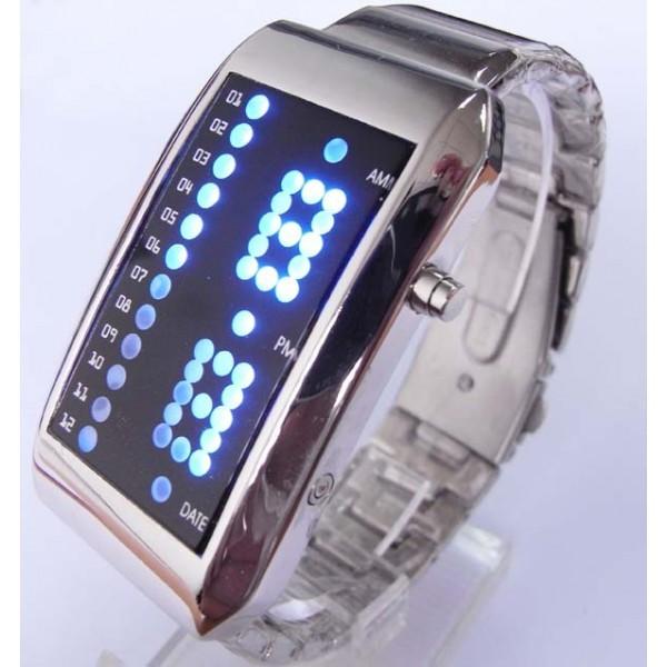Часы LED с металлическим браслетом