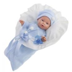Плачущая кукла-младенец Ланита в голубом