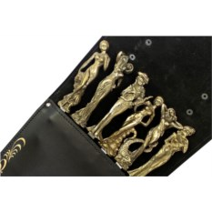Набор с шампурами Грации престиж в черном колчане