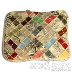 Итальянская сумка для планшетов из кожи питона