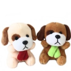 Мягкая игрушка-брелок Собачка с шарфиком