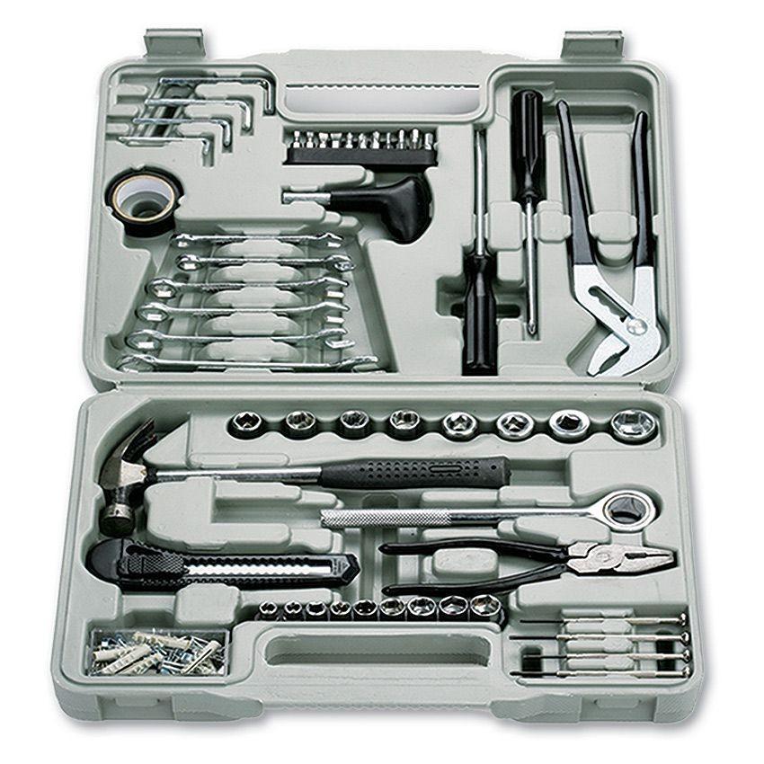 Набор инструментов в пластиковом ящике (141 в 1)