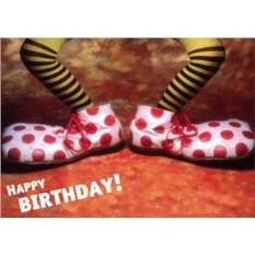 Открытка с клоуном С Днем Рождения