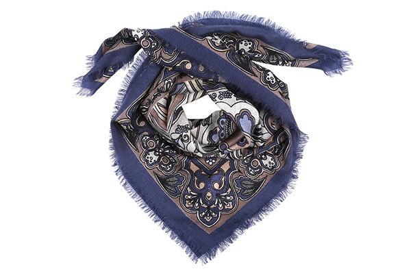 Разноцветный женский платок Fabretti (шерсть)