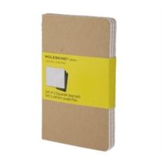 Записная книжка в клетку Moleskine Cahier (цвет — бежевый)