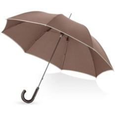 Коричневый механический зонт-трость Ривер