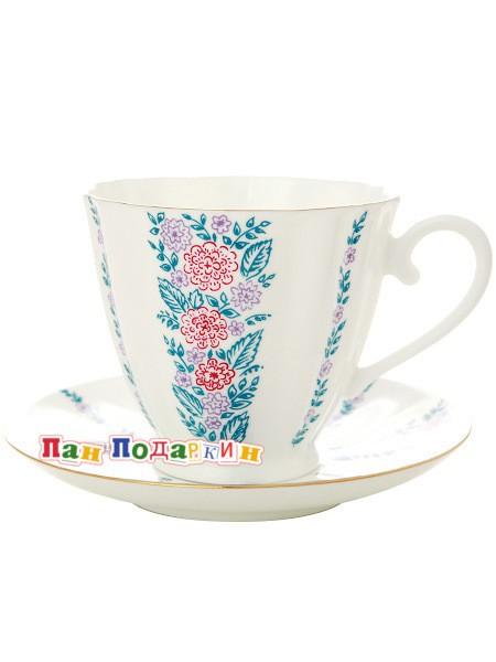 Чайная чашка с блюдцем Маргаритки