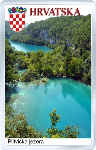 Магнит на холодильник: Хорватия. Плитвицкие озёра