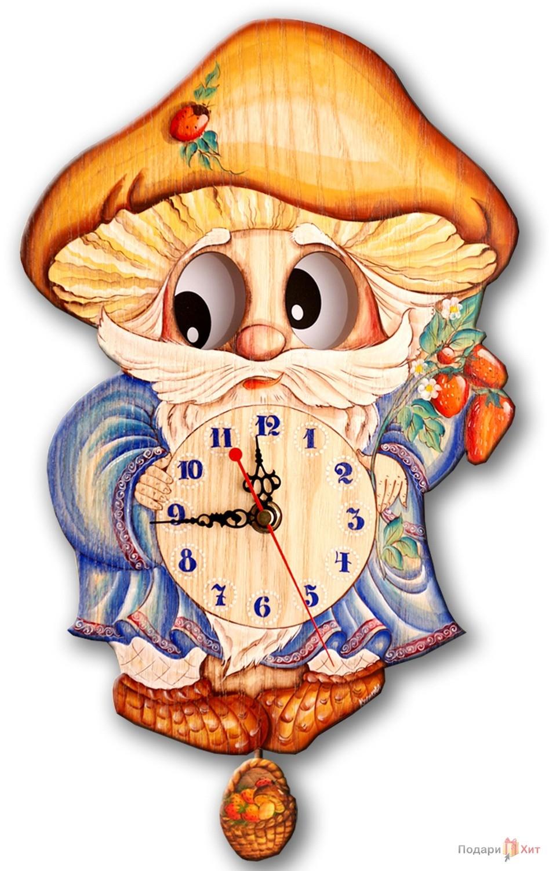 Часы настенные с маятником Лесовичок