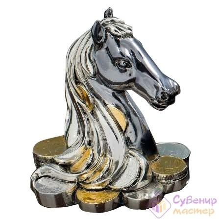 Статуэтка «Голова Лошади с монетами»