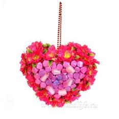 Букет из конфет Сердечко №2