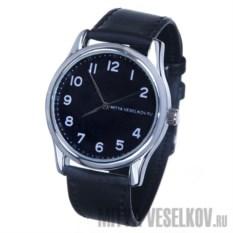 Часы Mitya Veselkov Правильные цифры на черном