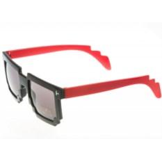 Пиксельные очки с красными дужками