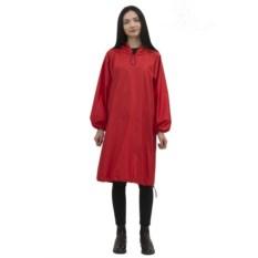 Красный удлиненный дождевик с карманами Hobo code
