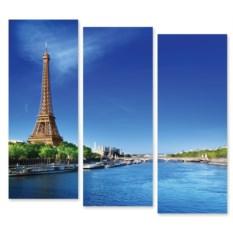 Модульная картина Река в Париже