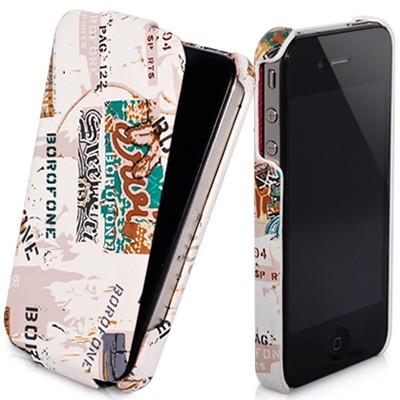Кожаный чехол borofone flip street для iPhone 4\4s