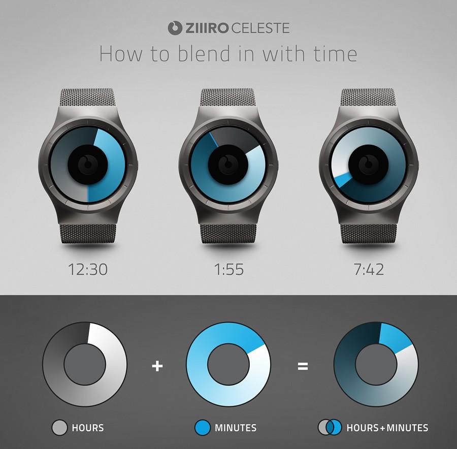 Наручные часы ZIIIRO Celeste Chrome-Purple