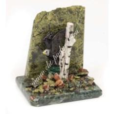 Сувенир из змеевика Орел у скалы