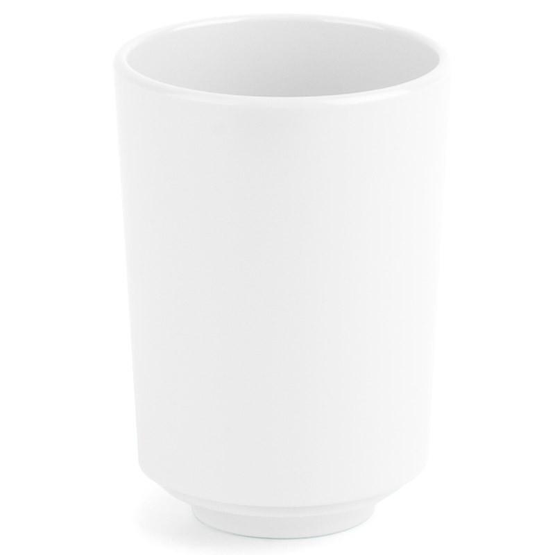 Белый стакан для ванной Step