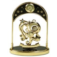 Декоративная фигурка с часами - знак Зодиака Водолей