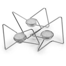 Набор из 3-х подсвечников Tri-Angular Loop (цвет: хром)