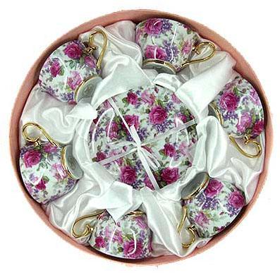 Подарочный чайный набор «Розы» на 6 персон