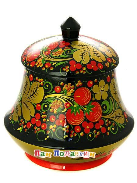 Чайница с художественной росписью Хохлома классическая