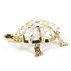 Декоративная фигурка с прозрачными кристаллами «Черепаха»