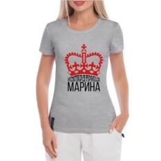 Серая женская футболка Императрица Марина