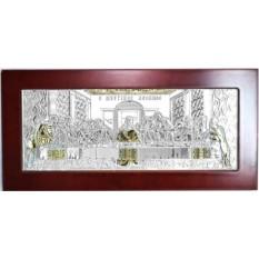 Икона в серебряном окладе Тайная Вечерия