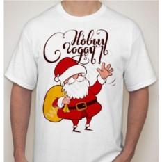 Мужская футболка с дедом Морозом С новым годом