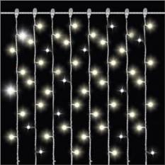 Белая светодиодная гирлянда Дождь Mister Christmas