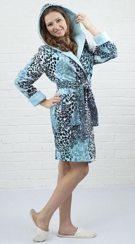 Женский халат Леопард