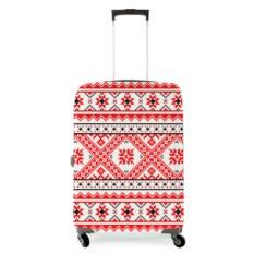 Чехол на чемодан Русский узор: ромбы