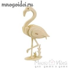 Деревянный конструктор 3D Фламинго