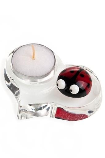 Подсвечник для свечи-таблетки Божья коровка