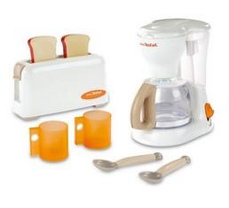 Игрушечный набор из тостера и кофеварки Tefal