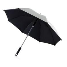 Серебристый зонт-трость Hurricane 23