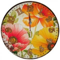Настенные часы Нежные маки