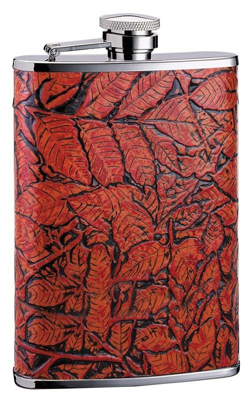 Фляга D-Pro S.Quire, узор из листьев, 0,27 л