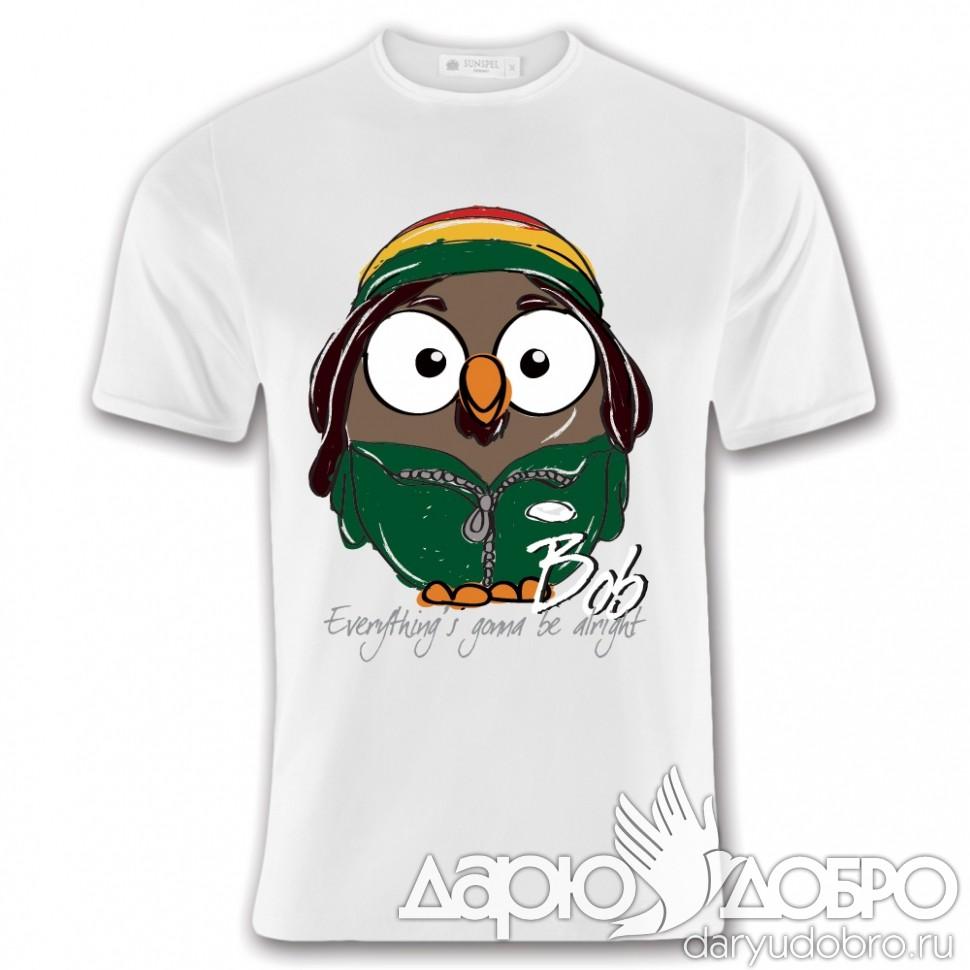 Мужская футболка с совой Боб