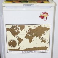 Магнитная скретч-карта Мировое путешествие