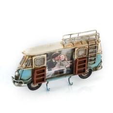 Фоторамка-ключница Синий автобус