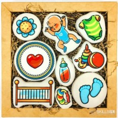 Большой набор печенья С рождением сына