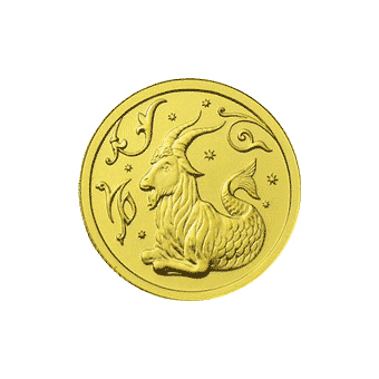Монета «Козерог», 25 рублей, Золото
