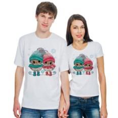 Парные футболки Совы в шапочках