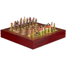 Шахматы для взрослых Римляне и египтяне, размер 36х36х6 см