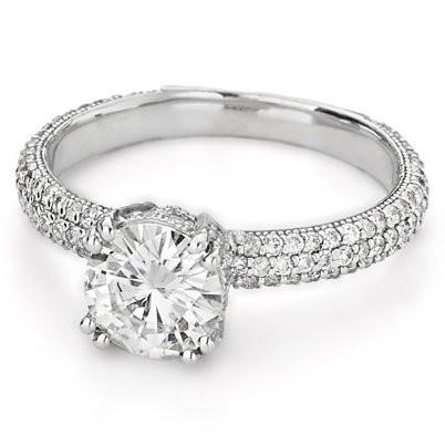 Кольцо с россыпью бриллиантов Suzanna