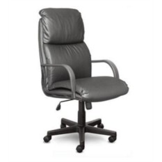 Кресло руководителя Nadir Надир, черная кожа, пластик