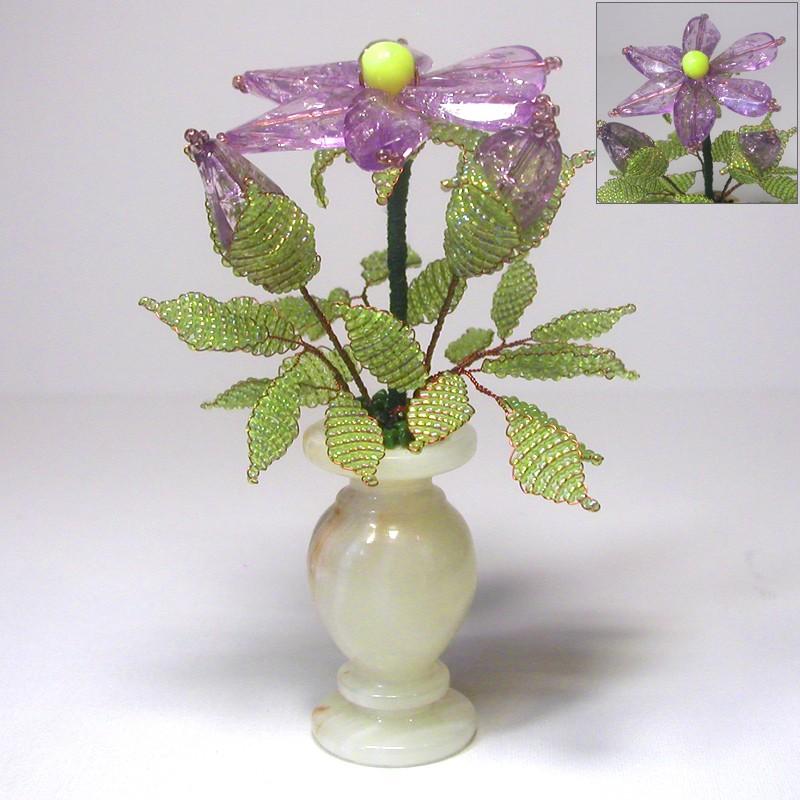 Цветок желания из бисера и бусин